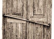 drzwi błękitny krakingowy grunge Zdjęcia Royalty Free