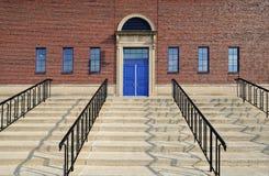 drzwi błękitny schodki obrazy royalty free