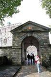 Drzwi bergen& x27; s ściana Obrazy Royalty Free