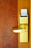 drzwi bezpieczeństwa karty Obrazy Royalty Free