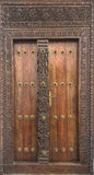 Drzwi budynek w Kamiennym miasteczku, Zanzibar Zdjęcie Royalty Free