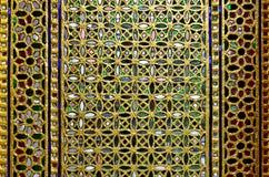 Drzwi dekorujący z barwionym szkłem Obraz Stock