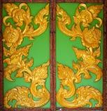 Drzwi deseniowy Lai Kanok tajlandzki Obrazy Stock