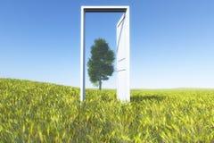 drzwi do nieba ilustracji