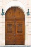 drzwi drewniane Prague Fotografia Stock