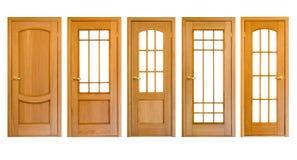drzwi drewniani Obrazy Stock