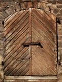drzwi drewniany Zdjęcia Royalty Free
