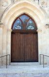 drzwi drewniany Fotografia Royalty Free