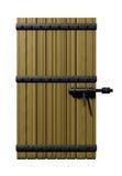 drzwi drewniany royalty ilustracja
