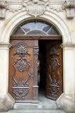 drzwi drewniany deseniowy Obraz Royalty Free