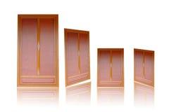 Drzwi, drewniany drzwi, antyczny drzwi, odizolowywający na białym tle Obraz Royalty Free