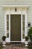drzwi drewniany frontowy Zdjęcie Royalty Free