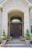 drzwi drewniany frontowy Zdjęcia Royalty Free