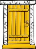 drzwi drewniany odosobniony Zdjęcie Stock