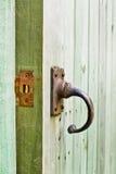 drzwi drewniany otwarty Fotografia Stock