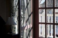 drzwi drewniany parawanowy Zdjęcia Stock