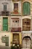 drzwi drewniany stary Obraz Royalty Free