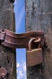 drzwi drewniany zamknięty stary Zdjęcia Royalty Free