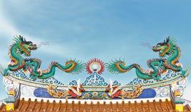 drzwi dwoista smoka dachu świątynia Fotografia Royalty Free