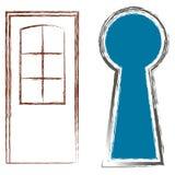 Drzwi dziura royalty ilustracja