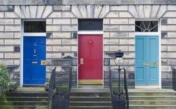 drzwi Edinburgh trzy Zdjęcia Stock