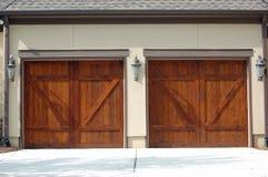 drzwi garaż Zdjęcia Royalty Free