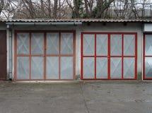 drzwi garaż dwa Zdjęcia Royalty Free