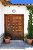 drzwi Greece drewniany Zdjęcia Royalty Free