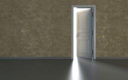 Drzwi i światło Zdjęcie Royalty Free