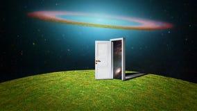 Drzwi inny wszechświat ilustracji