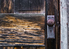 drzwi kabinowego bela stara Zdjęcie Royalty Free