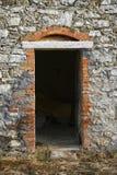 drzwi kamienia budynku Toskanii Obraz Stock