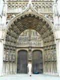 DRZWI katedra NASZ dama, ANTWERP, BELGIA Obrazy Royalty Free