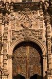 drzwi kościoła Guanajuato Meksyku ozdobny Valencia zdjęcia royalty free