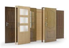 Drzwi kolekcja 2, 3D ilustracja ilustracji