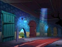 drzwi korytarz dużo zdjęcie royalty free