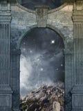 drzwi magiczny ilustracja wektor