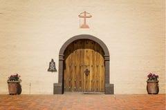 drzwi misi Santa ynez Obraz Stock