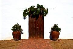 Drzwi misja Nuestra Senora De Los angeles Soledad Obrazy Stock