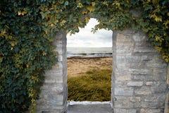 Drzwi morze Obrazy Royalty Free