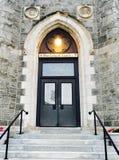 Drzwi Nasz dama Lourdes kościół Fotografia Stock