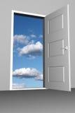 drzwi niebo Zdjęcia Royalty Free