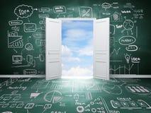 Drzwi niebo Obrazy Stock