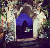 Drzwi noc, Ubud, Bali zdjęcie royalty free