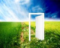 drzwi nowy świat. fotografia stock