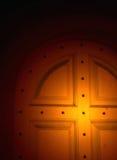 drzwi oświetlone Obrazy Royalty Free