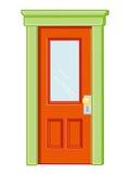 Drzwi odosobniona ilustracja Fotografia Stock