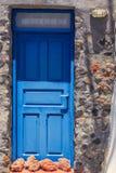 Drzwi os Santorini Obrazy Royalty Free