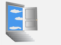 drzwi otwarty Fotografia Stock