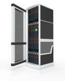 drzwi otwarty stojaka serwer Obrazy Stock